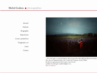 Détails : Michel Godeau photographies, galerie de photos d'art, site du photographe auteur