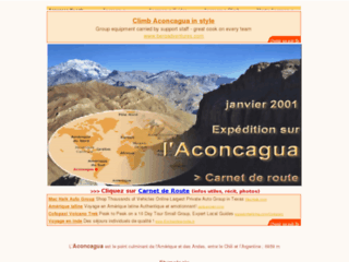 Détails : Alpinisme : ascension de l'Aconcagua (Argentine)