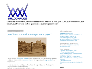 Détails : WalOoMalOo - Creation de site internet angers - Le Blog !