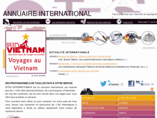 Détails : Sites internationaux