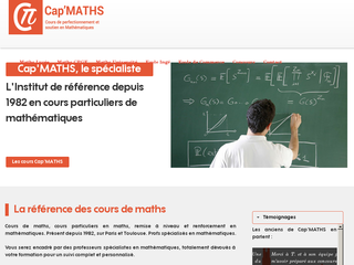 Détails : Cap'Maths - Cours de maths à Toulouse, Paris, Lyon