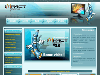 Détails : Impact-Cr3ations.com - Graphisme, mascotte, design, flash, banniere, ticket, charte, creation